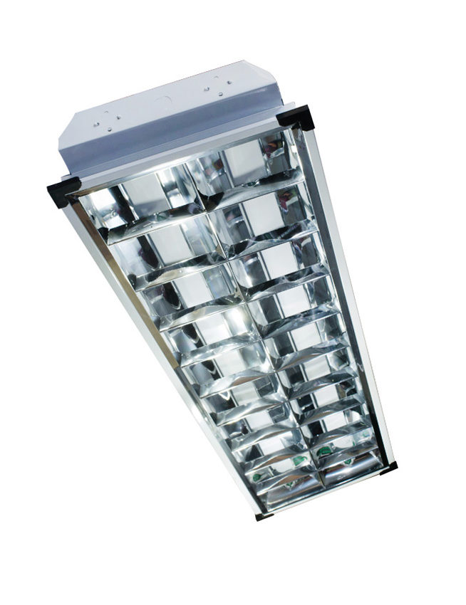 2x40 Louver Housing Recessed Led Lights Housing And