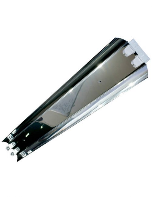 LED Housing and Fixtures Philippines T8 Tubelight Industrial Aluminum Reflector IP 40 G13