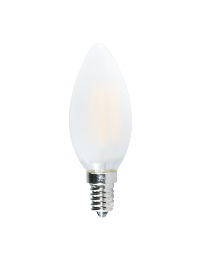 Led Frosted Candle Bulb 6w Warm White E12