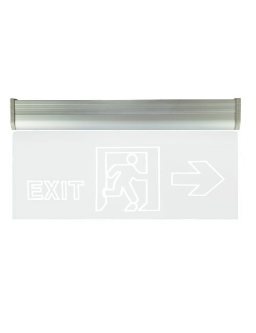 LED Emergency light Philippines Fire Exit Double Face Glass Plastic Single Acrylic Clear Green