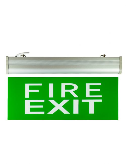 LED Emergency light Philippines Fire Exit Double Face Glass Plastic Single Acrylic Black Green