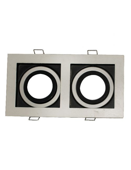 LED Housing and Fixtures Philippines MR16 GU10 E27 Spot Light Square Black and White