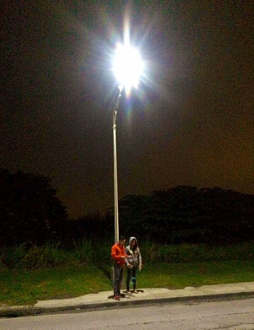 led solar street light 20w project