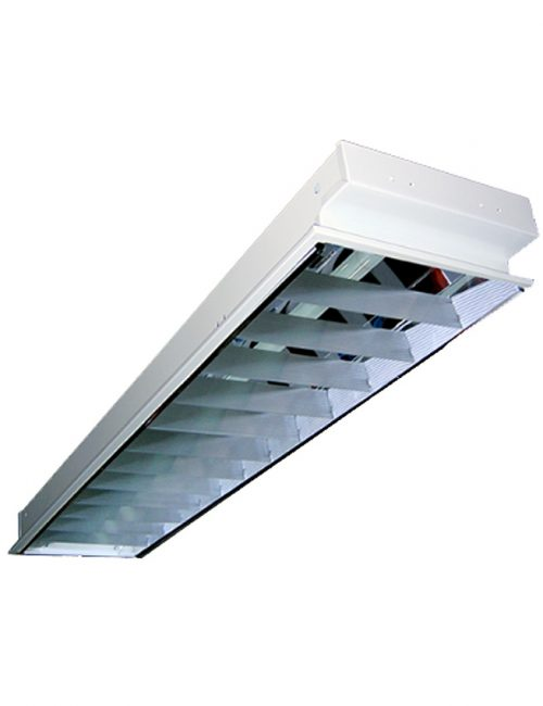 "LED Housing and Fixtures Philippines Recessed Mount 12""x48"" 1x40 Louver Housing"