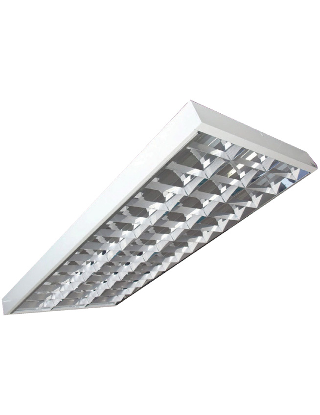 3x40 Tube Light Box Type Louver Housing 3pc 1200mm Led