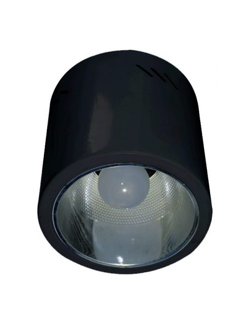 LED Housing and Fixtures Philippines Round Surface Mounted Bulb Housing Black E27