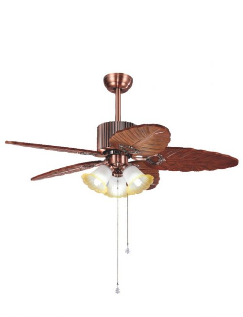 Ceiling Fan with Light Carve Leaf Wooden Blade Fixture Housing LED Lights Supplier Philippines