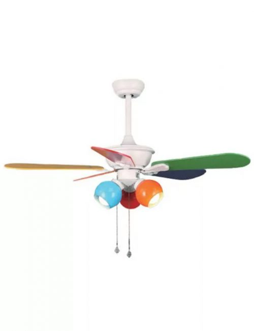 Ceiling Fan with Light Colorful Kiddie Room Fixture Housing LED Lights Supplier Philippines