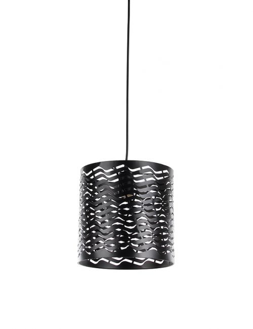 Industrial Pendant Lighting Philippines Metal Bubble Dome Cage Vintage Pattern Wave Black White Gray Wooden