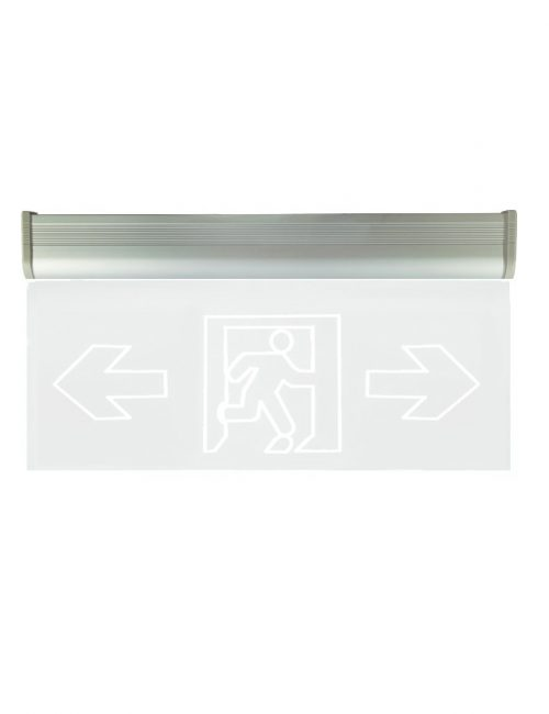LED Emergency light Philippines Fire Exit Glass Plastic Single Acrylic Clear Green Left Right