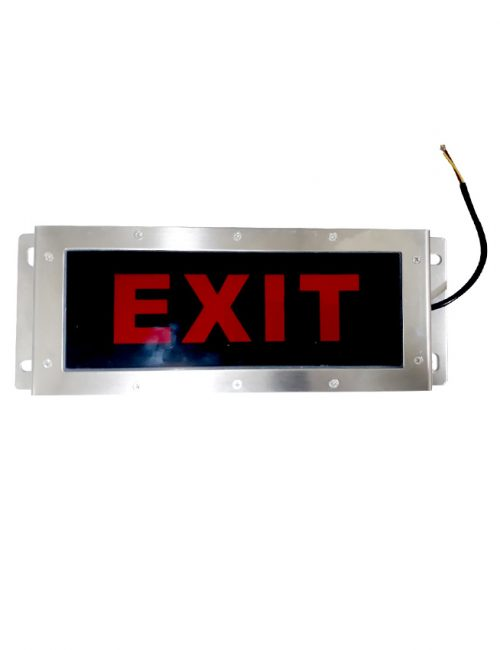 LED Exit Light Single Face Red Light