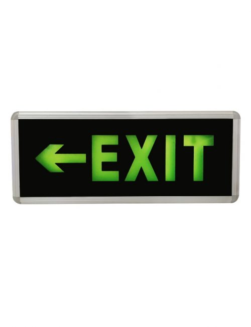 LED Exit Light Single Face Left Exit Hanging Fire Exit Sign Philippines