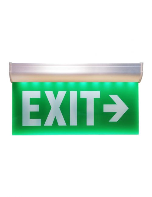 LED Exit Light Single Face Right Exit Hanging Fire Exit Sign Philippines