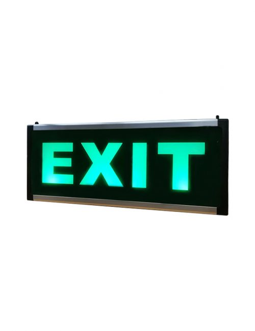 LED Lighting Philippines Emergency Black Exit Light Green