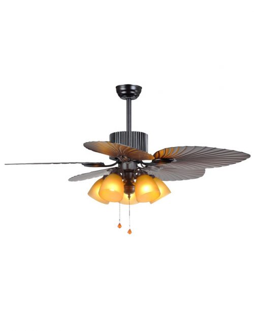 Ceiling Fan with Light Carve Leaf Blade Fixture Housing LED Lights Supplier Philippines