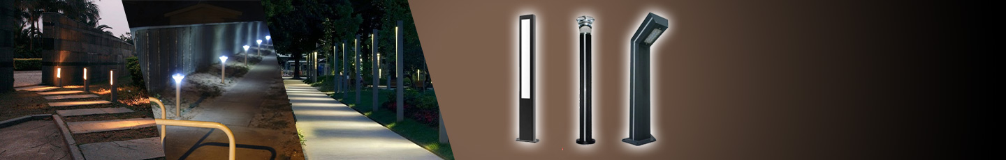 "LED BOLLARD LIGHTS<div id=""epl-title2"">Rectangular • Rounded • Square<br>7W • 9W • 10W • 20W</div>"