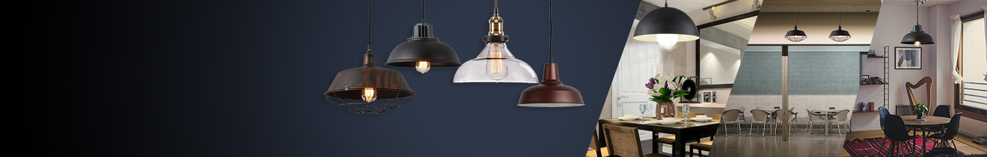 "LED PENDANT LIGHTS<div id=""epl-title2"">Offices • Restaurants • Stores • Residential <br>Building and Commercial Lighting</div>"