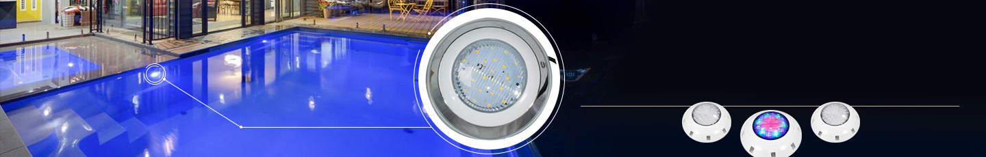 "LED SWIMMING POOL LIGHTS<div id=""epl-title2"">20W • 24W • 12W • 9W • 18W<br>PAR56 • RGB • Fountain Lights</div>"