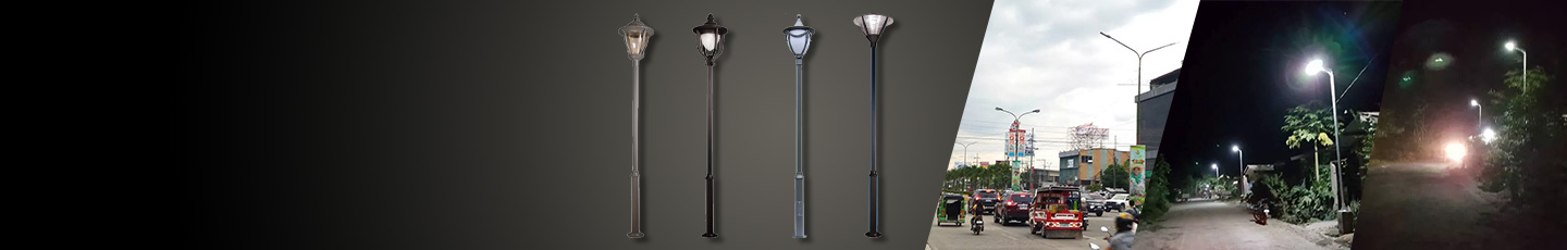 """STREET LIGHT<BR>LAMP POST STEEL POLE<div id=""""epl-title2"""">Antique Designs • 30W • 40W • Outdoor Use</div>"""