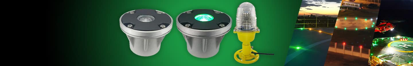"LED HELIPAD LIGHTS<div id=""epl-title2"">Inset Lights • Perimeter Lights • Wind Cone • Wind Socks</div>"