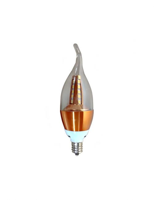 LED Candle Bulb E12 4 Watts Bronze Base